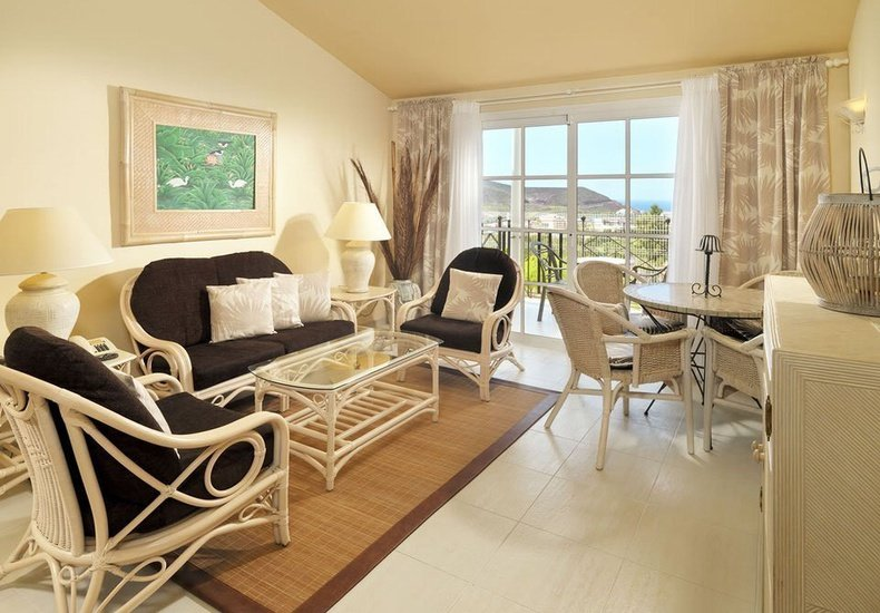 1 bedroom deluxe suite golf views with balinese bed gran oasis resort playa de las américas, tenerife